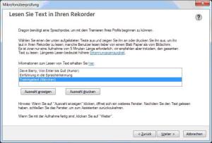 Screenshot Lerntext