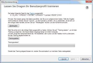 Screenshot Training