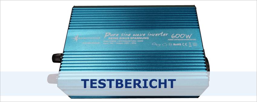 Die richtige Spannung: Solartronics Pure Sine Wave Inverter 600W - 24V