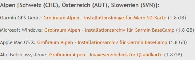 Alpen-Karten