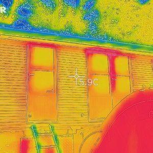 Wärmeverlust an den Fenstern?