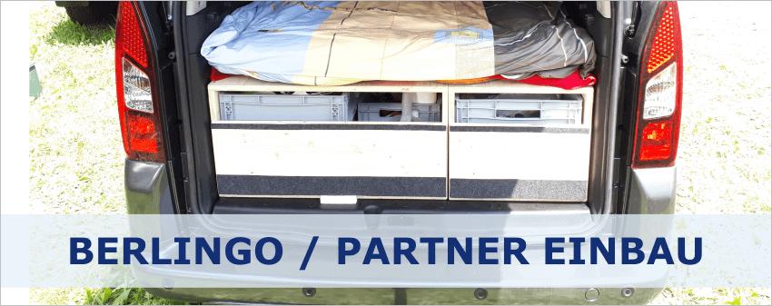 Camper Ausbau für Citroen Berlingo und Peugeot Partner